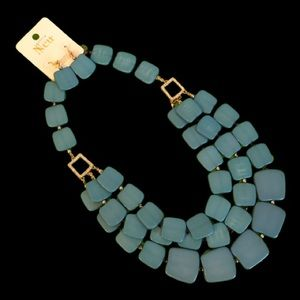 Neu Turquoise Triple Strand Necklace with Earrings